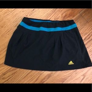 Adidas climalite skort. Black and teal. Size small